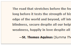 St. Thomas Aquinas quote from Today in Literature